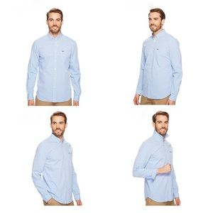 Lacoste Regular Fit Gingham Poplin Button Down